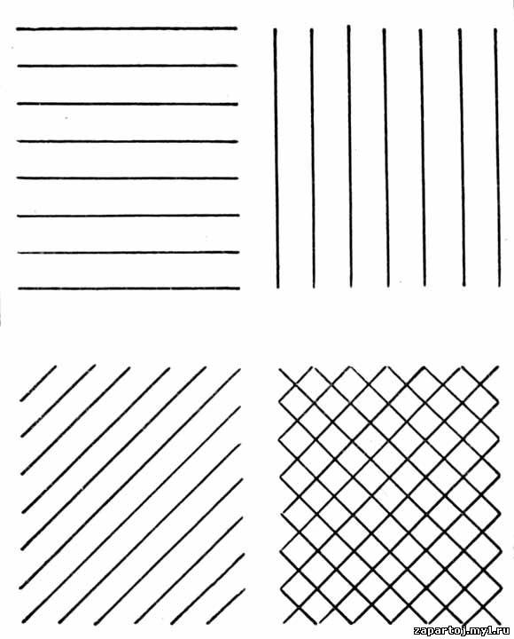 Нарисовать горизонтальные линии